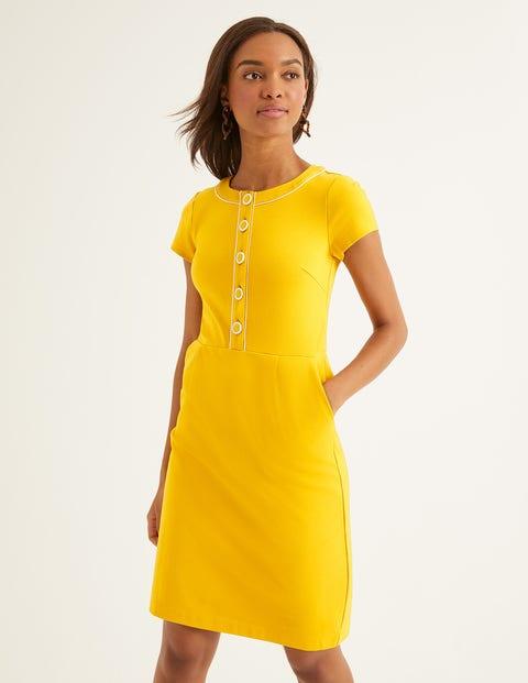 1960s Style Dresses, Clothing, Shoes UK Gracie Ponte Dress Yellow Women Boden Orange �80.00 AT vintagedancer.com