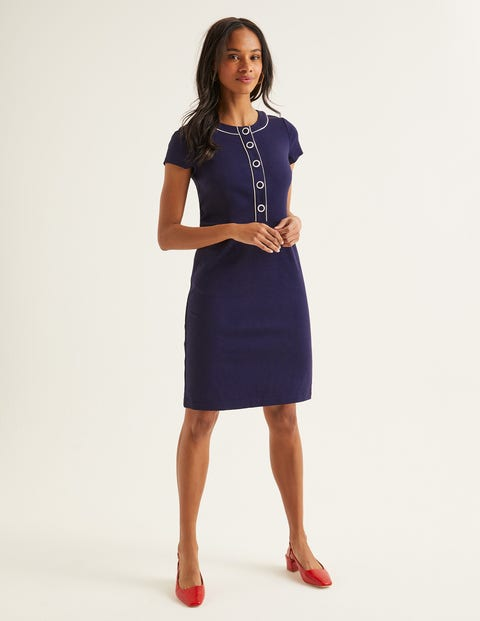 Gracie Ponte Dress - Navy
