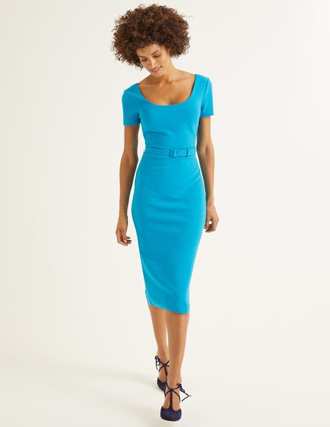 Tilly Ottoman Dress   Blue Lagoon by Boden