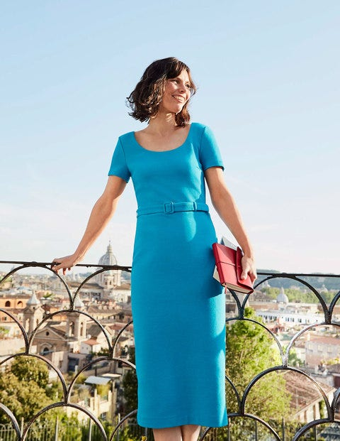 Tilly Ottoman Dress - Blue Lagoon