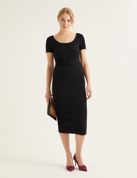 Tilly Ottoman Dress - Black