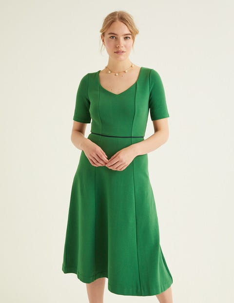 Hadley Ottoman Midi Dress - Broad Bean/Navy