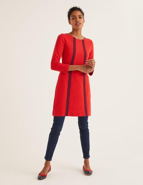 Anita Ottoman Tunic - Post Box Red/Ruby Ring