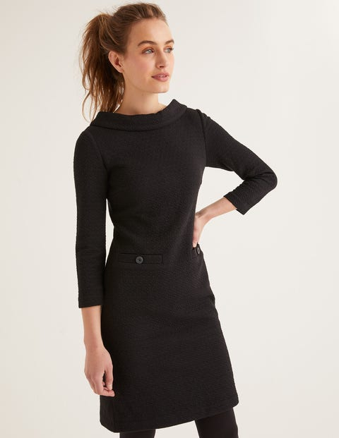 Bessie Jacquard Dress - Black Jacquard