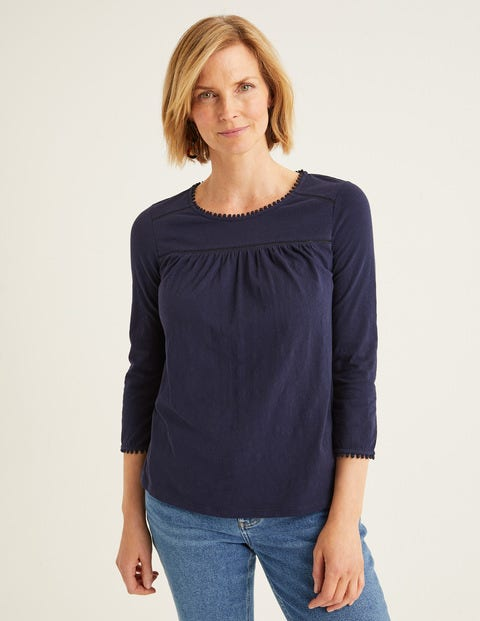 Julia Jersey Top - Navy