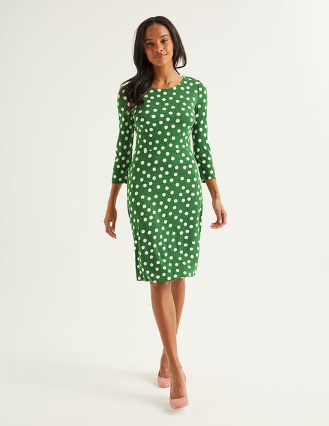 Theodora Ponte Dress - Broad Bean, Brand Polka Dot