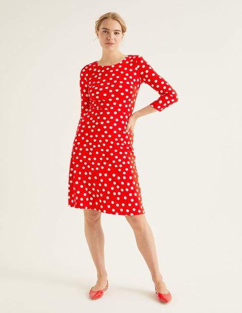 Theodora Ponte Dress - Post Box Red, Brand Polka Dot