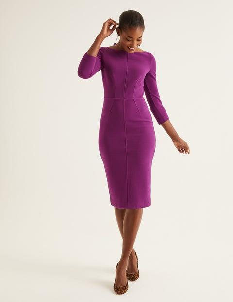 Aurelia Ottoman Dress - Ultra Violet