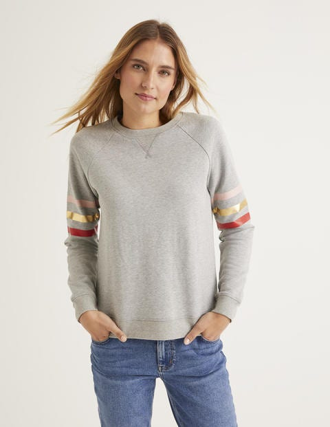 The Sweatshirt - Grey Marl/Metallic Stripe