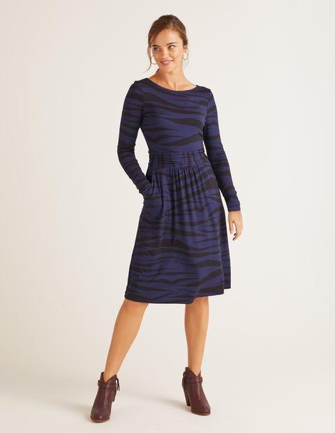 Abigail Jersey Dress - Navy Zebra