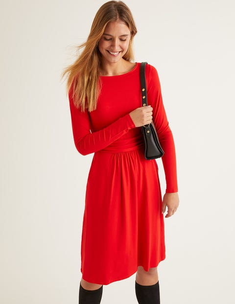 Abigail Jersey Dress - Post Box Red