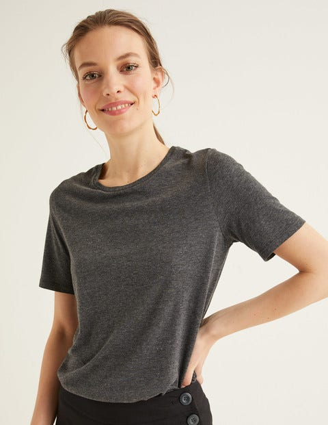 Supersoft Short Sleeve Tee - Charcoal Marl