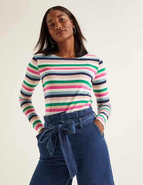 Long Sleeve Breton - Heritage Blue Multi Stripe