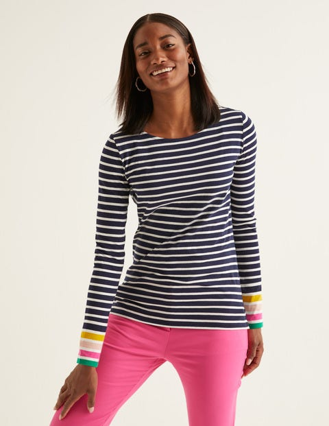 Long Sleeve Breton - French Navy Multi Cuff