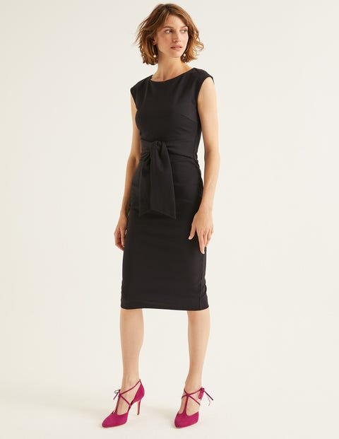 Jessica Ponte Dress   Black by Boden