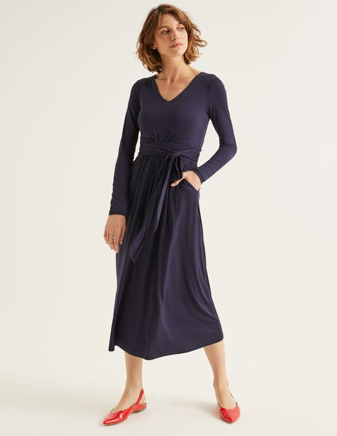 Ferne Jersey Midi Dress - Navy