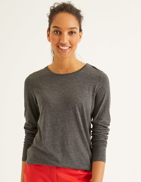 Supersoft Crew Neck Tee - Charcoal Marl