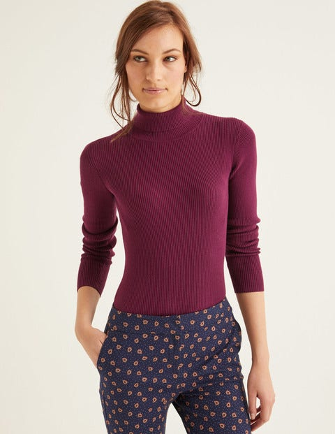Tilly Roll Neck Sweater - Ruby Ring
