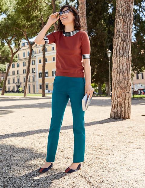 Rachel Knitted Tee - Conker
