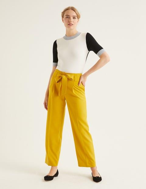 Rachel Knitted Tee - Ivory Colourblock