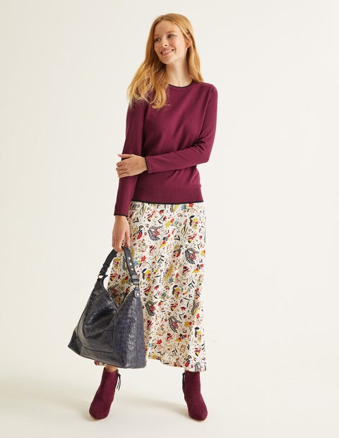 Elina Jumper - Ruby Ring/Navy Tipping