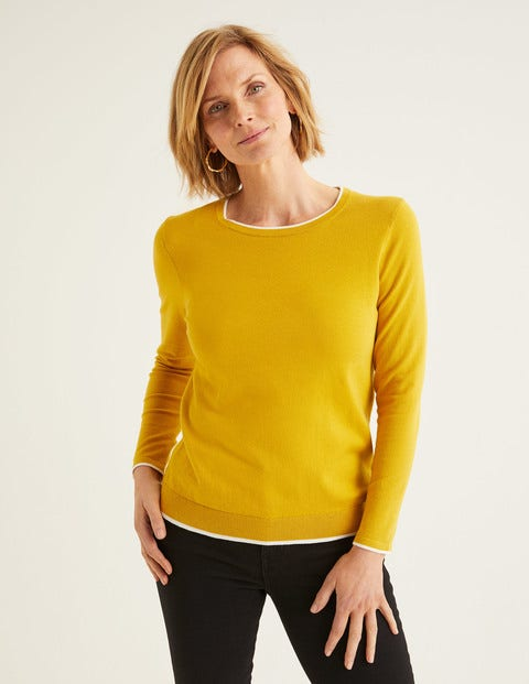 Elina Pullover Yellow Damen Boden, Yellow