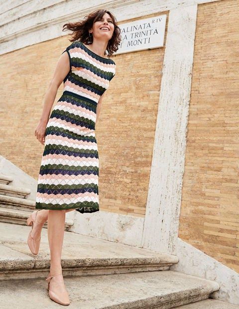 Opal Dress - Broad Bean Multi Stripe
