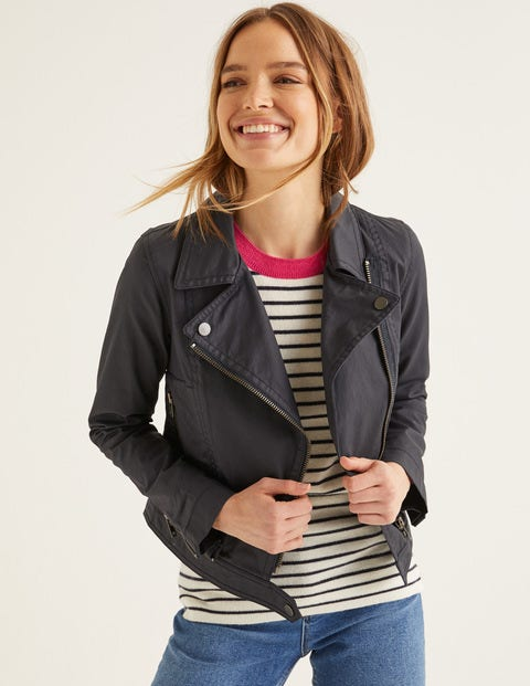 4690add39 Wren Biker Jacket - Navy