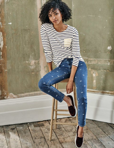 Skinny Jeans - Bird Print