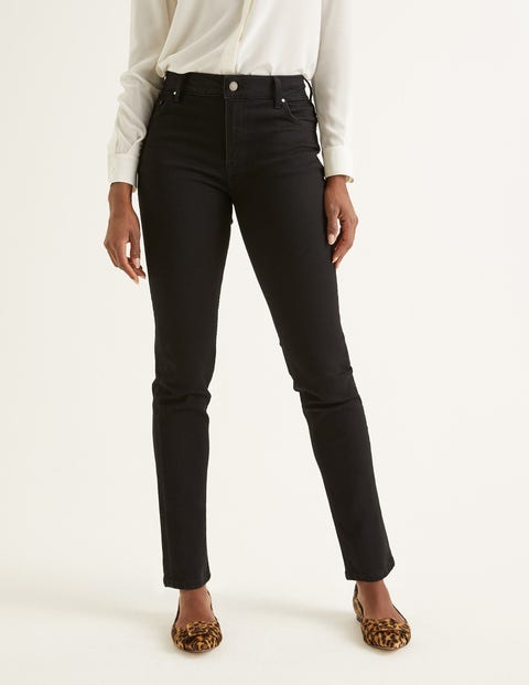 Schmale Jeans Mit Geradem Bein - Schwarz