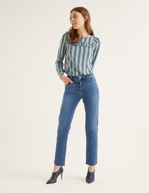 Relaxed Straight Jeans - Mid Vintage/Side Stripe