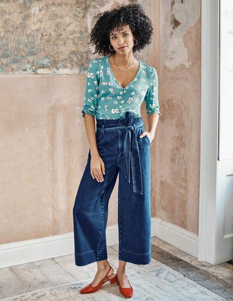 Paperbag Wide Leg Jeans