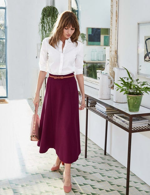 Rosie Ponte Midi Skirt - Ruby Ring