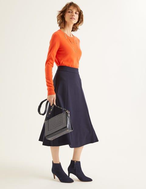 Rosie Ponte Midi Skirt - Navy