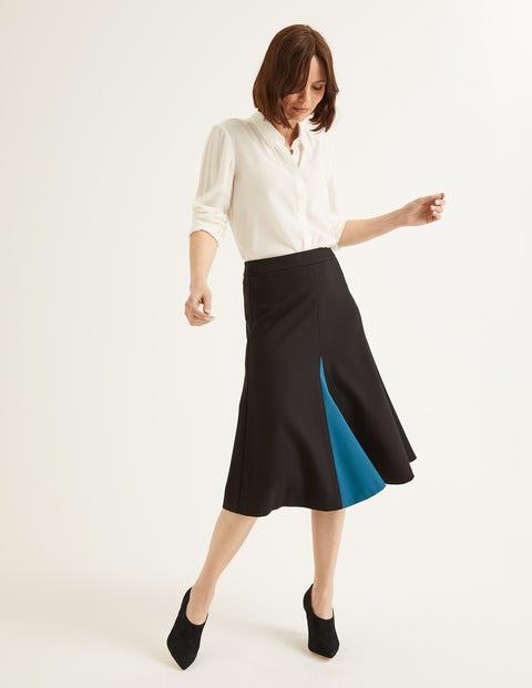 Henrietta Ponte Midi Skirt - Black