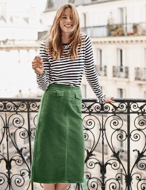 Natalie Midi Skirt - Broad Bean