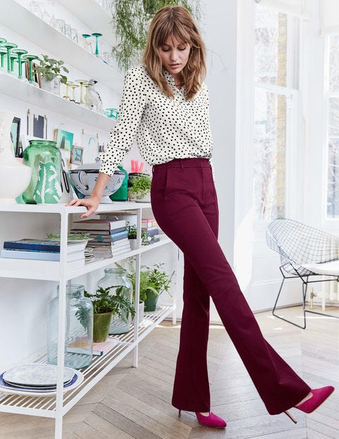 Bath Bi-Stretch Flare Pants - Ruby Ring