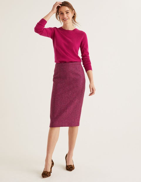 British Tweed Pencil Skirt