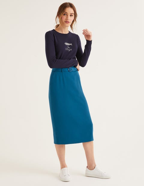 Christina Belted Skirt - Baltic