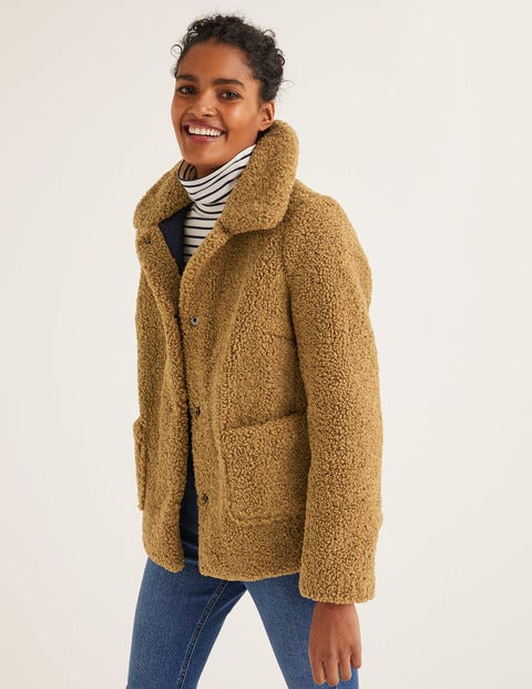Kemble Teddy Coat - Camel