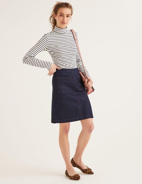 Bay Mini Skirt - Rinse Indigo