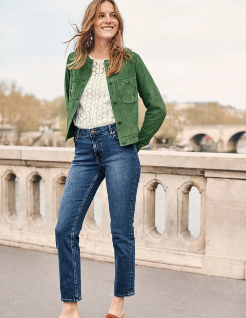 Behn Crop Jacket - Broad Bean