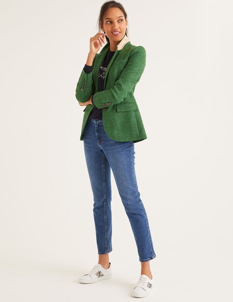 Smyth British Tweed Blazer - Green Herringbone