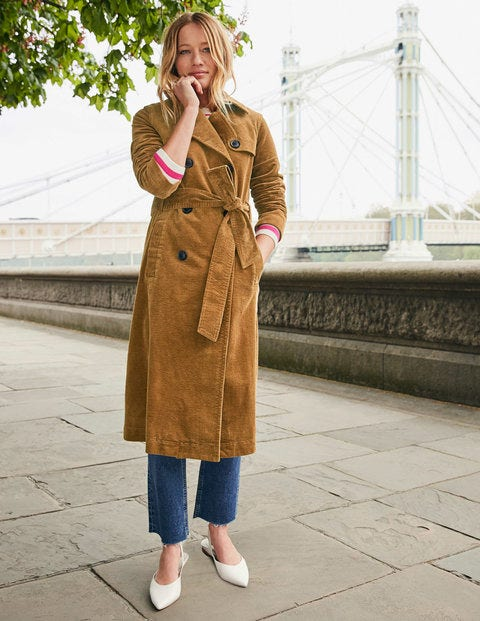 Markham Cord Trench Coat - Gingerbread