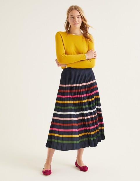60s Skirts | 70s Hippie Skirts, Jumper Dresses Camille Skirt Navy Women Boden Navy �110.00 AT vintagedancer.com