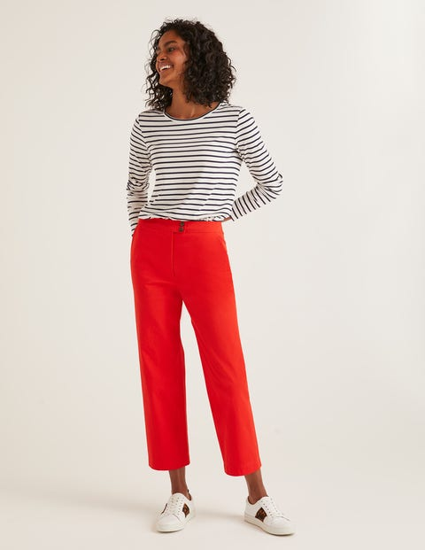 Brampton Cropped Pants - Red Pop