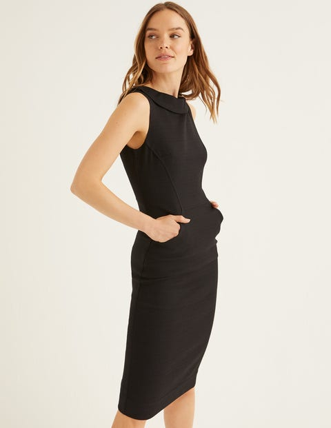 Seam Detail Martha Dress - Black