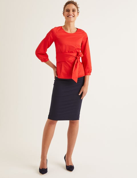 Evie Top - Post Box Red