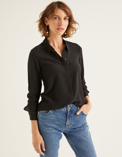 The Silk Shirt - Black