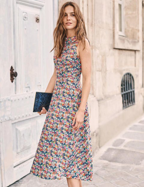 Clarissa Midi Dress - Cameo Blue Country Garden